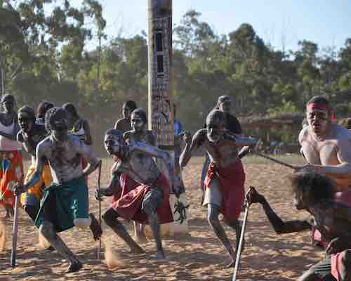 Aboriginals Dancing in Northern Territory